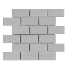 Nickel Brick Ceramic Mosaic 12 X 12 100418649 Floor