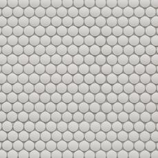 Unglazed White Penny Porcelain Mosaic