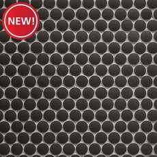 New! Unglazed Charcoal Penny Porcelain Mosaic