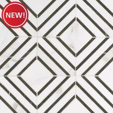 New! Calacatta Labrinto Porcelain Mosaic