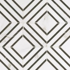 Calacatta Labrinto Waterjet Porcelain Mosaic