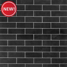 New! Jet Black Basalt Limestone Tile