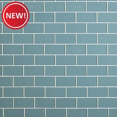 New! Spa Blue Glass Tile
