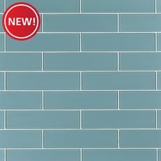 New! Spa Blue Glass Tile