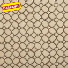 Clearance! Umber Flora Polished Porcelain Mosaic