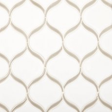 Gray Frame Tear Polished Porcelain Mosaic