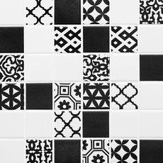 Mod Patchwork Matte Porcelain Mosaic