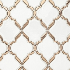 Victorian Oro Polished Porcelain Mosaic
