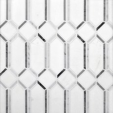 Thassos Gateways Polished Marble Mosaic