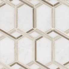 Tempest Valentino Water Jet Polished Marble Mosaic