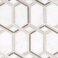 Tempest Valentino Waterjet Polished Marble Mosaic