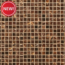 New! Chocolate Toffee Glass Mosaic