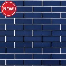 New! True Blue Glass Tile