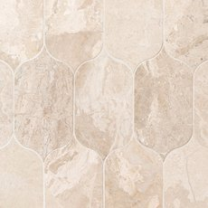 Crema Royal Lotus Polished Marble Mosaic