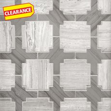Clearance! Valentino Mixed Aztec Polished Marble Mosaic