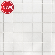 New! Thassos Square Honed Marble Mosaic