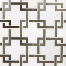 Vector Royal White Stainless Steel Water Jet Marble Mosaic