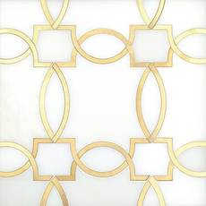 Phoenix Royal White Brass Waterjet Marble Mosaic