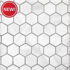 New! Volakas Hexagon Porcelain Mosaic