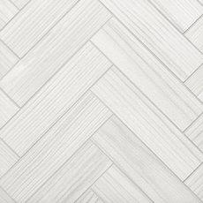 Finland White Wood Plank Porcelain Mosaic