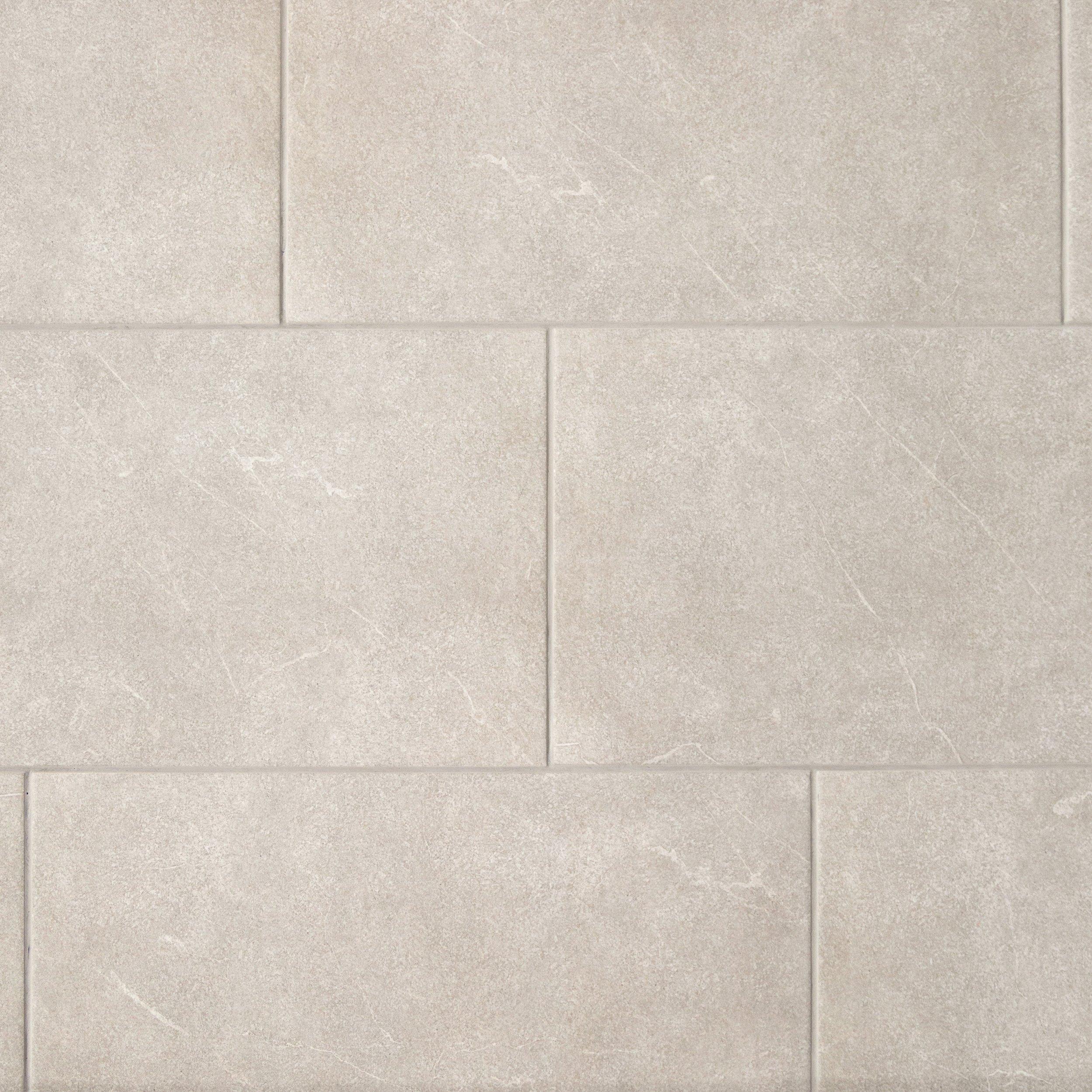 Concrete Gray Ceramic Tile - 12 X 24 - 100136795