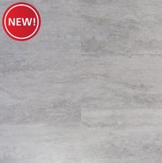 New! Silver Travertine Luxury Vinyl Tile