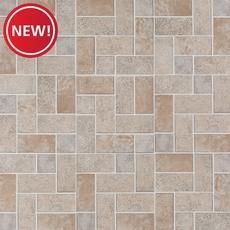 New! Brick Modular Gray Vinyl Tile
