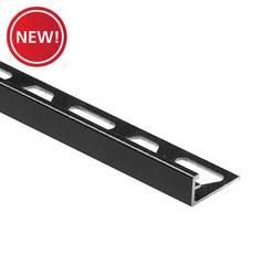 New! Schluter Jolly Edge Trim 1/2in. Aluminum Matte Black