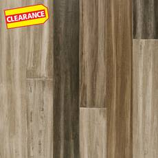 Clearance! Tasika Hand Scraped Wire Brushed Water-Resistant Stranded Engineered Bamboo
