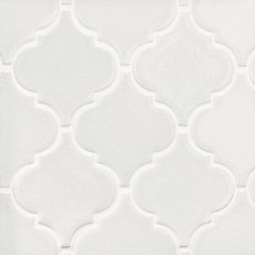 Heirloom Linen Arabesque Porcelain Mosaic