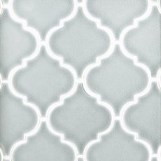 Heirloom Aqua Arabesque Porcelain Mosaic 10 X 10