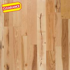 Clearance! Natural Hickory Distressed Solid Hardwood