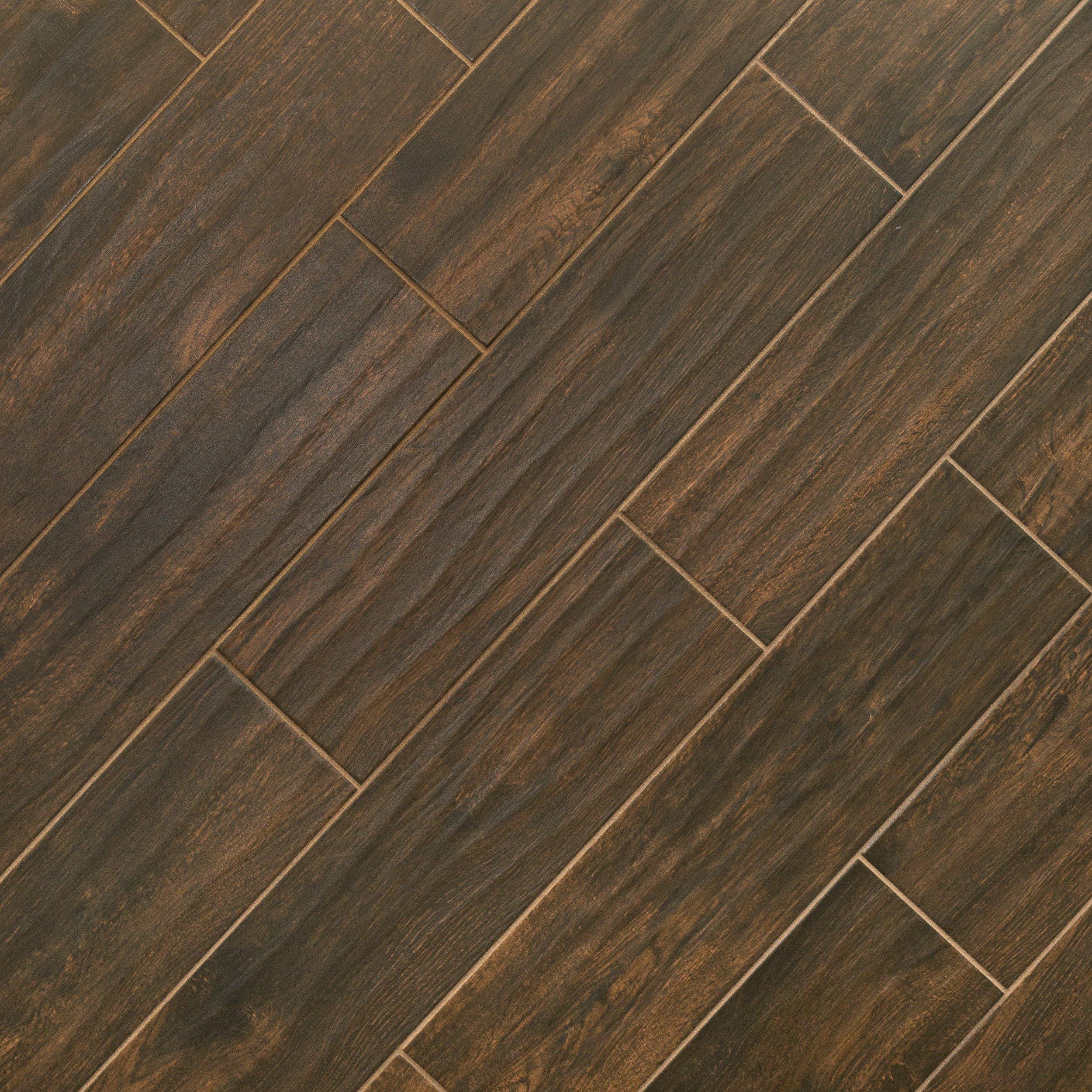 Attrayant Burton Walnut Wood Plank Porcelain Tile