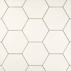 Opal White Hexagon Porcelain Tile