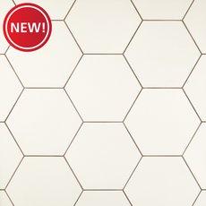 New! Opal White Hexagon Porcelain Tile