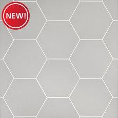 New! Opal Gray Hexagon Porcelain Tile