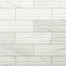 Marble Art Wave Polished Ceramic Tile