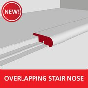 Color 1288LGWG Medium Laminate Overlapping Stair Nose