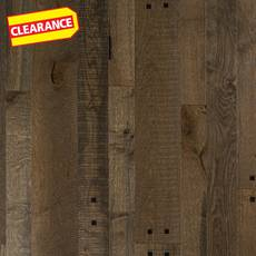 Clearance! Rustic Gold Oak Distressed Engineered Hardwood