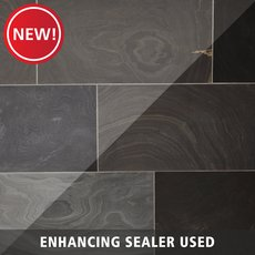 New! Black Honed Slate Tile