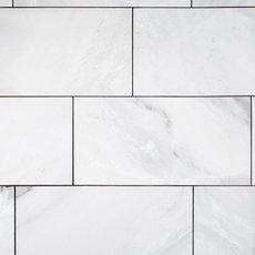 Mountain White Polished Marble Tile