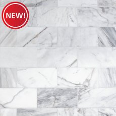 New! Ocean White Polished Marble Tile