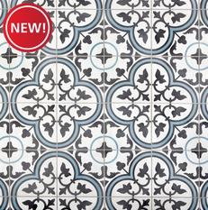 New! Equilibrio Blue Encaustic Cement Tile