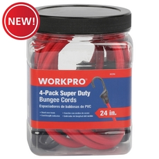 New! Work Pro Super Duty Bungee Cords - 4pk.