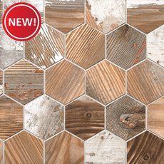 New! Hasley Manor Matte Wood Plank Porcelain Mosaic