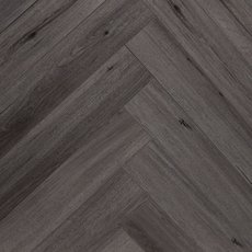 Twilight Ash Herringbone Luxury Vinyl Plank with Foam Back