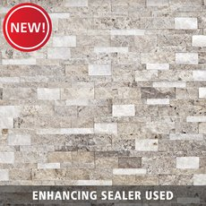 New! Triton Mix Splitface Travertine Panel Ledger
