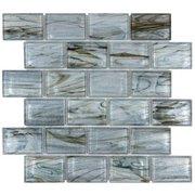 Aurora Sky 2 x 3 in. Brick Glass Mosaic