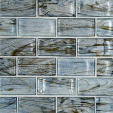 Aurora Sky 2 x 3 in. Brick Glass Mosaic