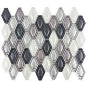 Pearl Gray Velvet Hexagon Glass Mosaic